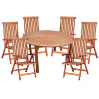Zestaw ogrodowy (Stół Cocos 140cm + zestaw 6 krzeseł 5-pozycyjnych do wyboru) wizualizacja