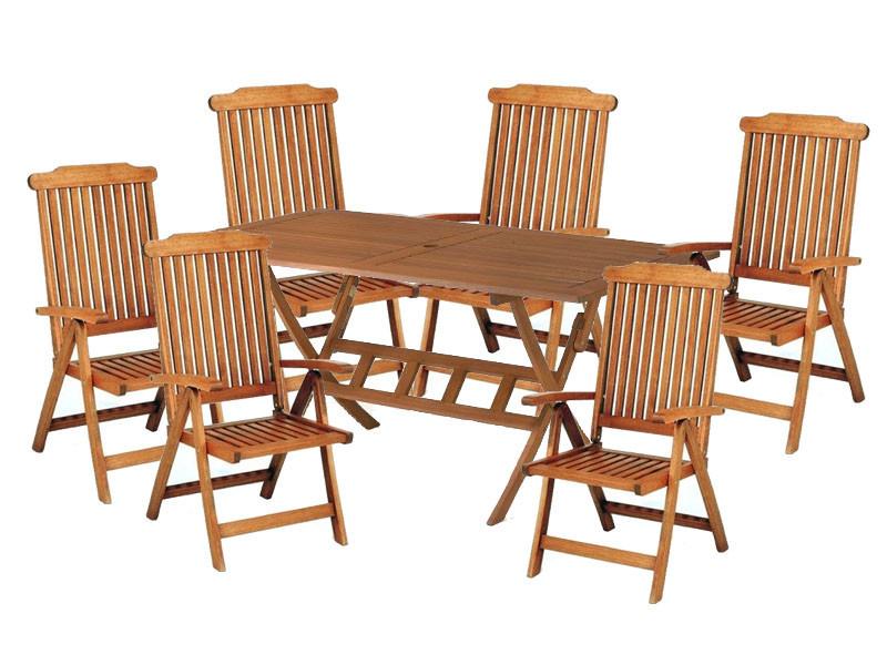 Zestaw ogrodowy Bradford 100x200 (6 krzeseł Baltic) wizualizacja
