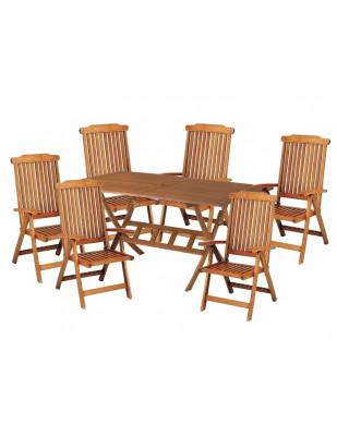 Zestaw mebli ogrodowych Bradford (200 x 100) z 6 krzesłami Baltic