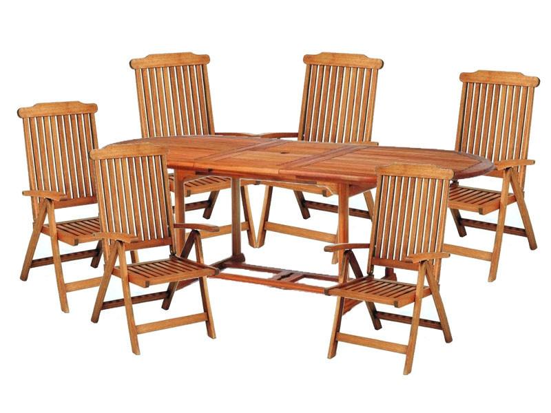 meble ogrodowe (6 krzeseł Baltic + stół Toledo)