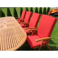 meble ogrodowe stół krzesła (8 krzeseł Cardiff + stół Stockholm + 8 poduch)
