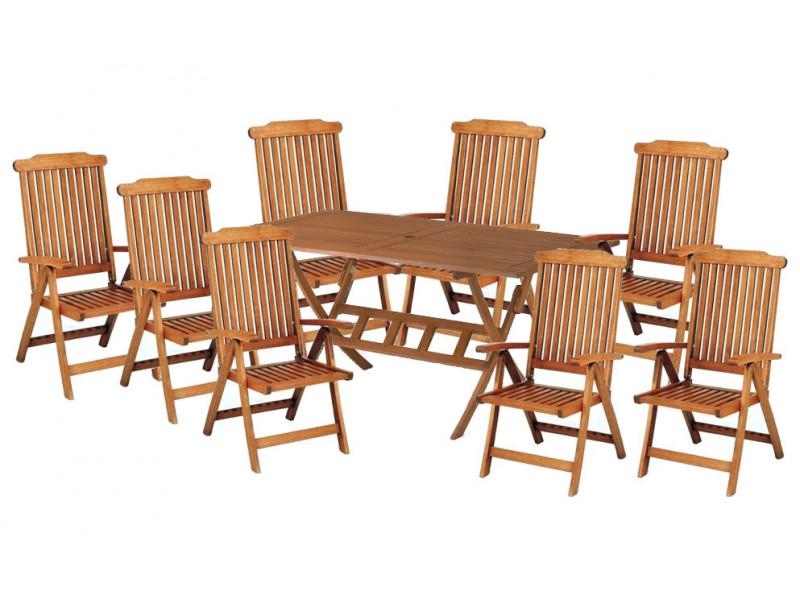 Zestaw ogrodowy Bradford 100x200 (8 krzeseł Baltic) wizualizacja