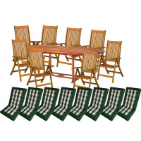 Zestaw ogrodowy (8 krzesła Cardiff+ stół Toledo + 8 poduch) wizualizacja