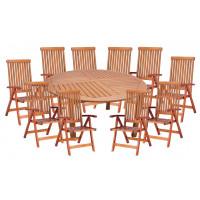 Zestaw ogrodowy (Stół Cocos 180cm + zestaw 8 krzeseł 5-pozycyjnych do wyboru) wizualizacja