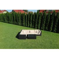 Zestaw mebli ogrodowych z technorattanu Madryt - Zestaw modułowy (5 elementów)