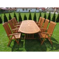 meble do ogrodu drewniane (8 krzeseł Wellington + stół Stockholm)