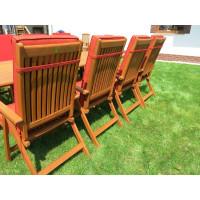meble ogrodowe (8 krzeseł Wellington + stół Stockholm)