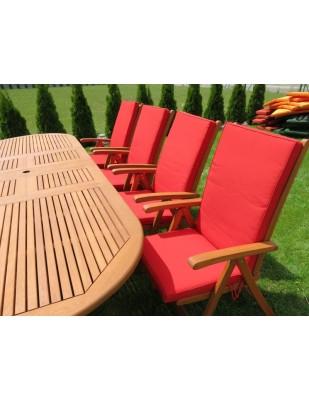 Zestaw ogrodowy (8 krzeseł Wellington + stół Stockholm)