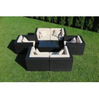 Zestaw mebli ogrodowych z technorattanu Madryt (14) - Zestaw modułowy (7 elementów)
