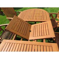 meble ogrodowe drewniane (6 krzeseł Baltic + stół Toledo + 6 poduch)