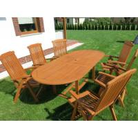 meble ogrodowe stół krzesła (6 krzeseł Baltic + stół Toledo + 6 poduch)