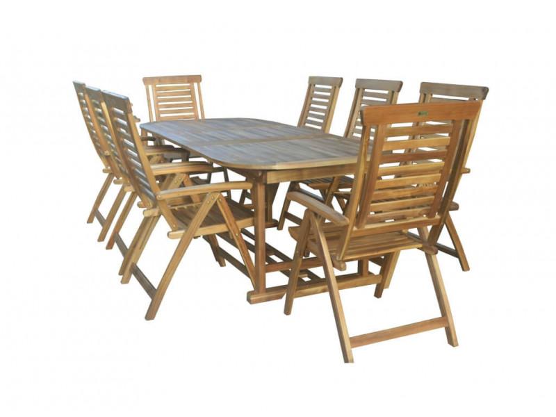 Zestaw mebli ogrodowych Ascot (165-225-285) x 100 z 8 krzesłami Ascot