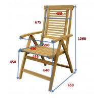Zestaw mebli ogrodowych Ascot (165-225-285) x 100 z 8 krzesłami Ascot + komplet poduch Premium