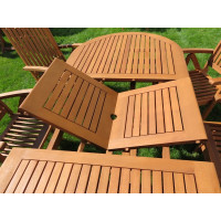 meble ogrodowe drewniane (6 krzeseł Baltic + stół Toledo)