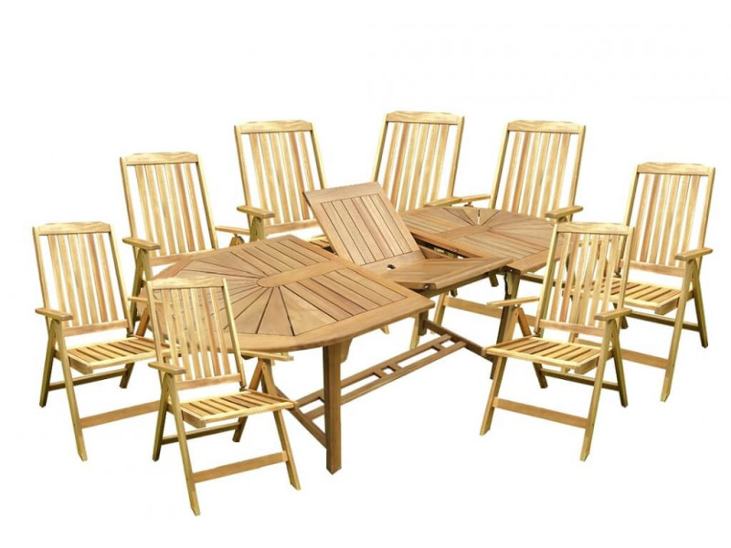 Zestaw mebli ogrodowych Bristol (153-195) x 90 z 8 krzesłami Bristol