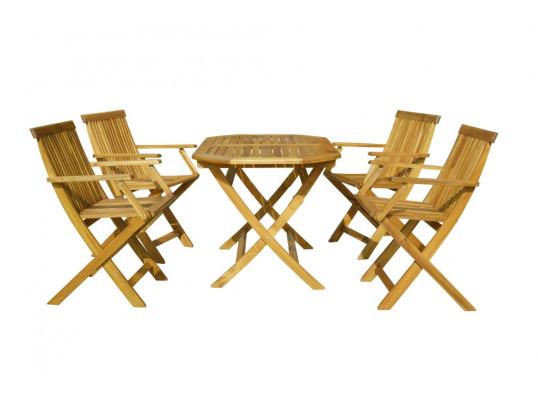Zestaw mebli ogrodowych Oxford 120 x 75 z 4 krzesłami Oxford