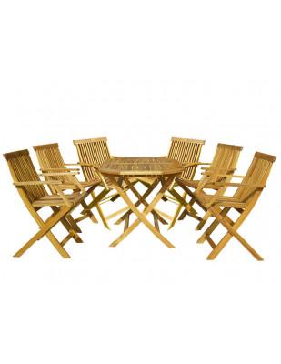 Zestaw mebli ogrodowych Oxford 120 x 75 z 6 krzesłami Oxford