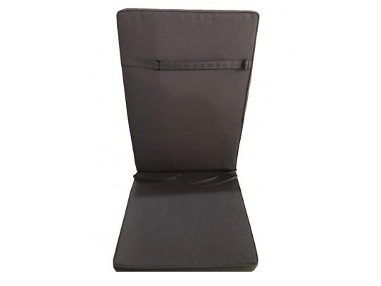 Poduszka na krzesła składane 5 pozycyjne kolor szary