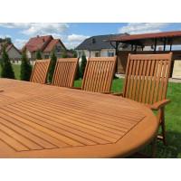 Zestaw mebli ogrodowych Stockholm (210-250-290 x 100) z 12 krzesłami do wyboru + komplet poduch