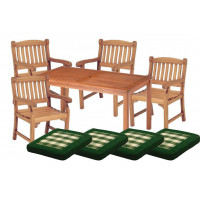 Zestaw ogrodowy (4 fotele Edinburgh + stół Dover + 4 poduchy)