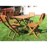 komplet ogrodowy drewniany (4 krzesła + stół)