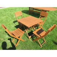 meble ogrodowe drewniane (4 krzesła + stół)