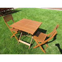 meble ogrodowe drewniane Cayenne (2 krzesła + stół)