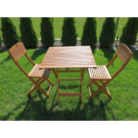 meble do ogrodu drewniane (2 krzesła + stół)