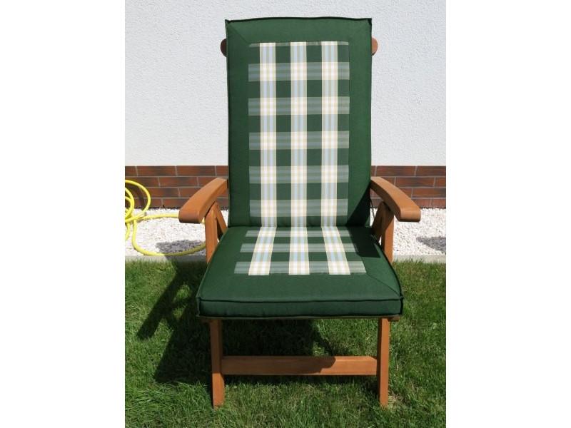 Poduszki na krzesła składane 5-pozycyjne zielona krata