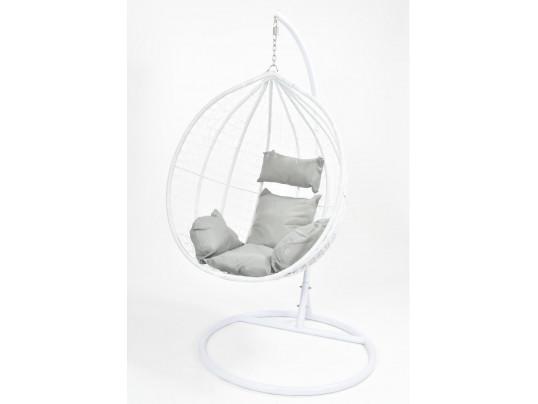 Fotel wiszący ogrodowy - hamak kokon 9069 - biały