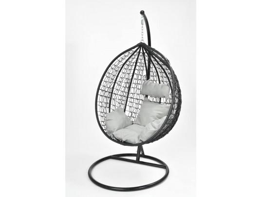 Fotel wiszący ogrodowy - hamak kokon 9069 - czarny