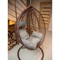 Fotel wiszący ogrodowy - hamak kokon 9069 - brązowy
