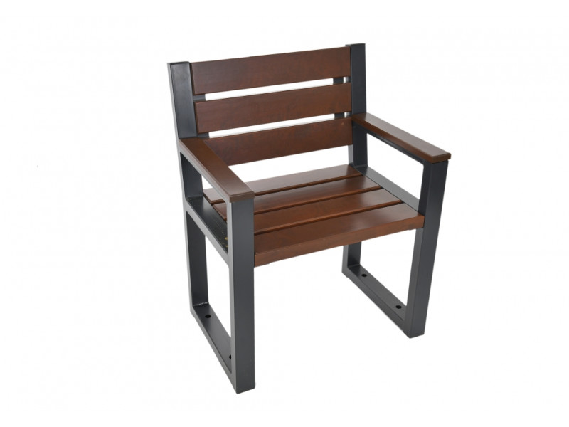 Krzesło ogrodowe Commodus z oparciem