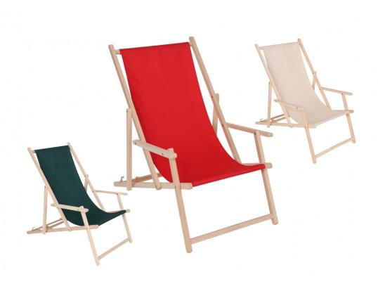 Leżak plażowy model P01 z podłokietnikiem 56 x 140