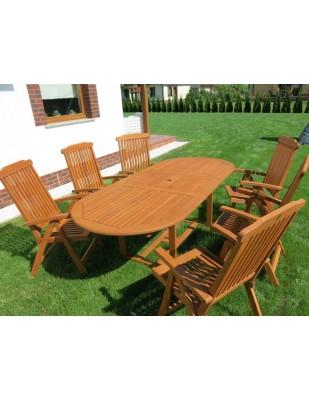 Krzesło ogrodowe składane Baltic (5-pozycyjne)