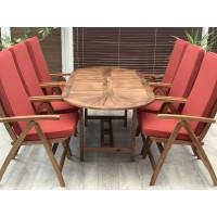 Stół drewniany ogrodowy Bristol rozkładany (153-195) x 90 x 72H