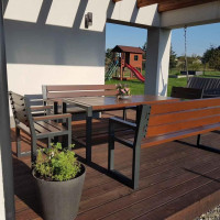 Krzesło ogrodowe Commodus bez oparcia i podłokietnika