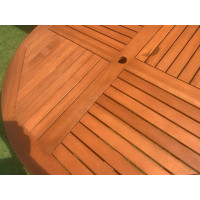 Stół drewniany ogrodowy Cocos - okrągły średnica 140cm x 75H
