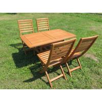 meble ogrodowe drewniane z krzesłami Tenerife