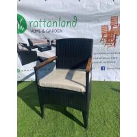 Fotel z technorattanu z poduszką