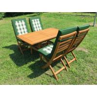 meble ogrodowe drewniane z krzesłami Tenerife z poduchami
