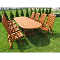 meble ogrodowe drewniane z krzesłami Cardiff