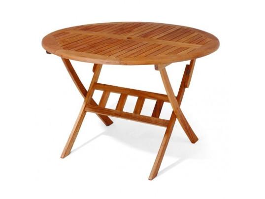 Stół drewniany ogrodowy Bradford - okrągły średnica 110cm x 75H
