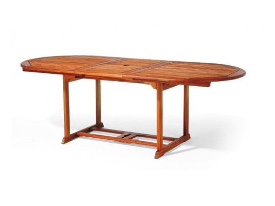 Stół drewniany ogrodowy Toledo - owalny (180 - 230) x 100 x 75H