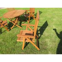 krzesło do ogrodu drewniane Wellington (5-pozycyjne)