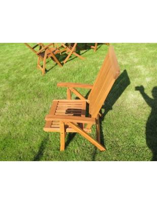Krzesło ogrodowe składane Wellington (5-pozycyjne)
