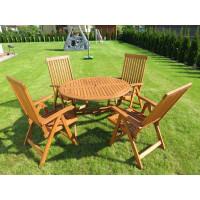komplet mebli ogrodowych z krzesłami Wellington