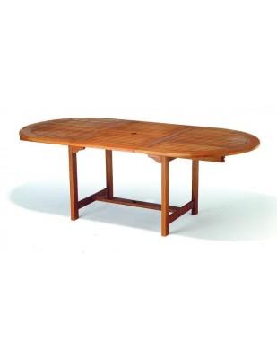 Stół drewniany ogrodowy Oldham - owalny (140-180) x 110 x 75H