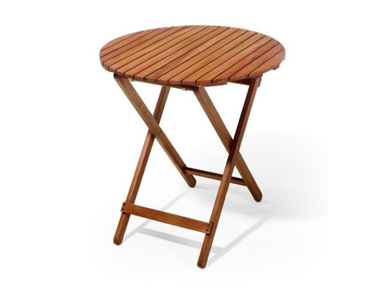 Stół drewniany okrągły Trafalgar - Ratanland