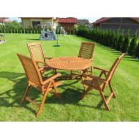 komplet mebli ogrodowych z krzesłami Bosbury